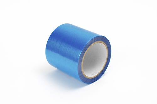 blue protective tape